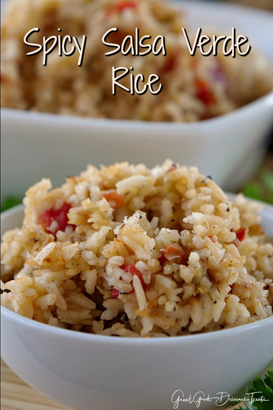 Spicy Salsa Verde Rice